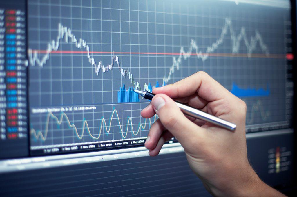 Forex Diagramm bei der Markt Analyse